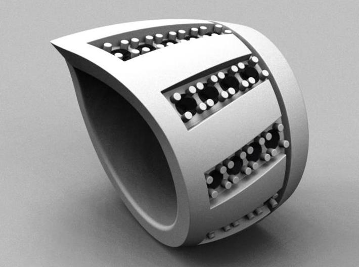Jet Set Ring - Size 11 (20.68 mm)  3d printed