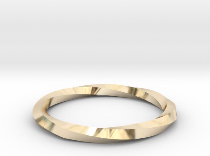 Nurbs Wedding Ring-Size 5.5 3d printed