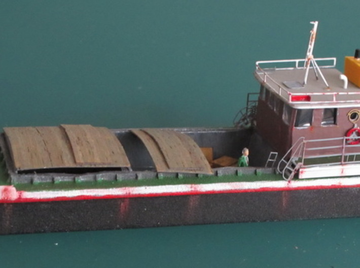 Harbour Barge enclosed, Schute geschlossen 1/200 3d printed Our Barge was Basis to build this Version. Thank you Kai