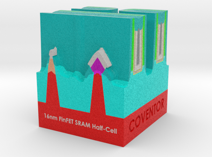 FinFET SRAM Half-cell - with fonts 3d printed