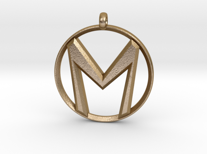 """The Letter """"M"""" Pendant 3d printed"""