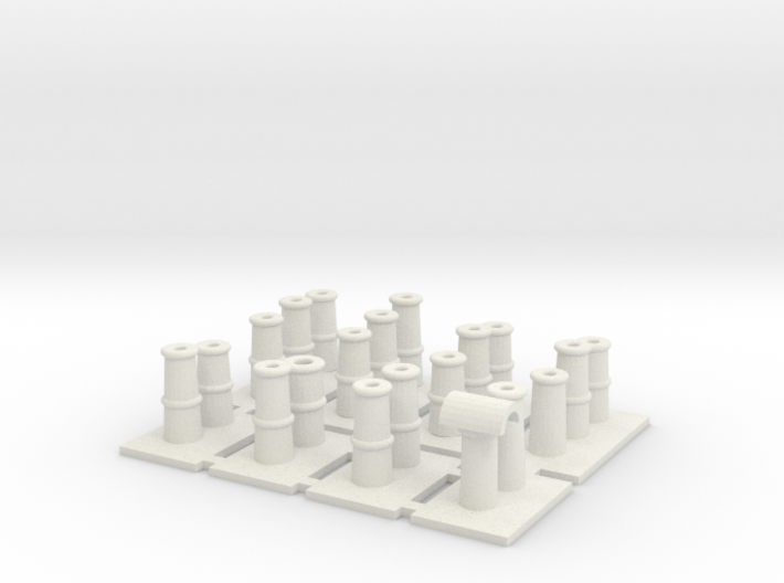 T008 Chimney Pots - 4mm Scale 3d printed