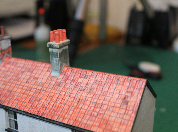 T019 SS Chimney Pots - 4mm Scale 3d printed