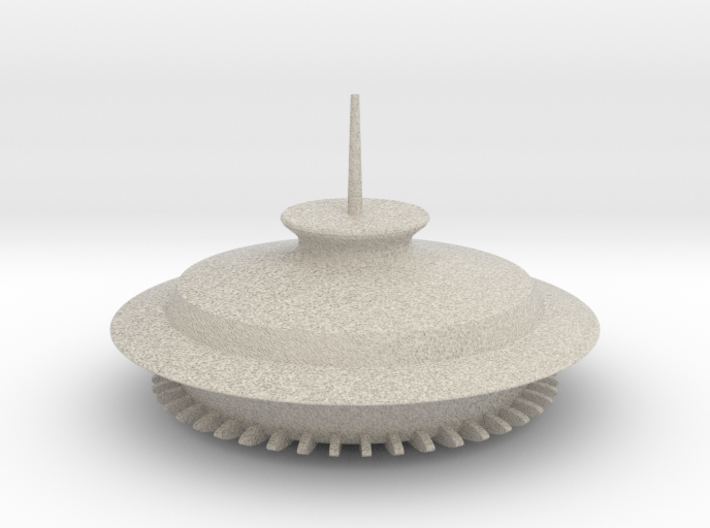 Space Needle Antenna Ball 3d printed