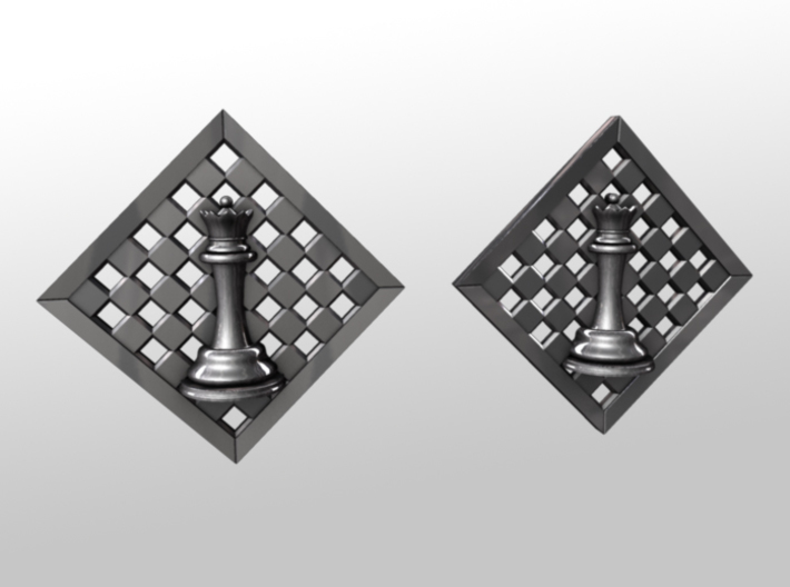 Chess Earrings - Queen 3d printed