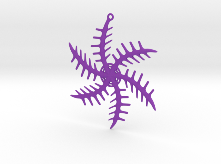 Ornament, Snowflake 001 3d printed