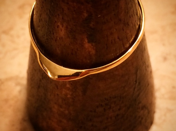 Edge Ring US Size 7 UK Size O 3d printed Gold Plated Brass