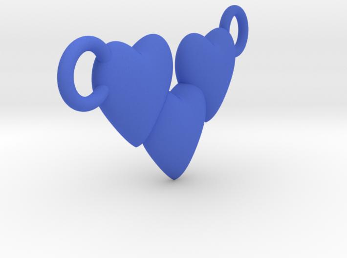 Love Three Hearts (Big Size Pendant) 3d printed