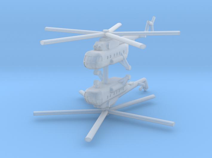 1/285 Mil Mi-17 Hip (x2) 3d printed