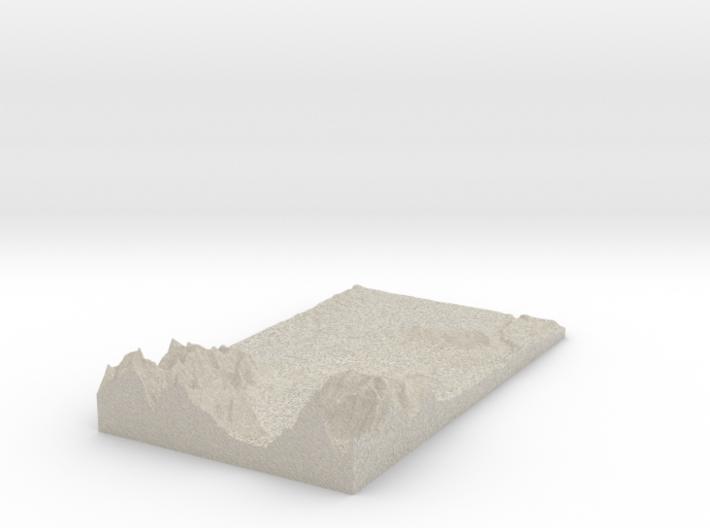Model of Höllers-Berg 3d printed