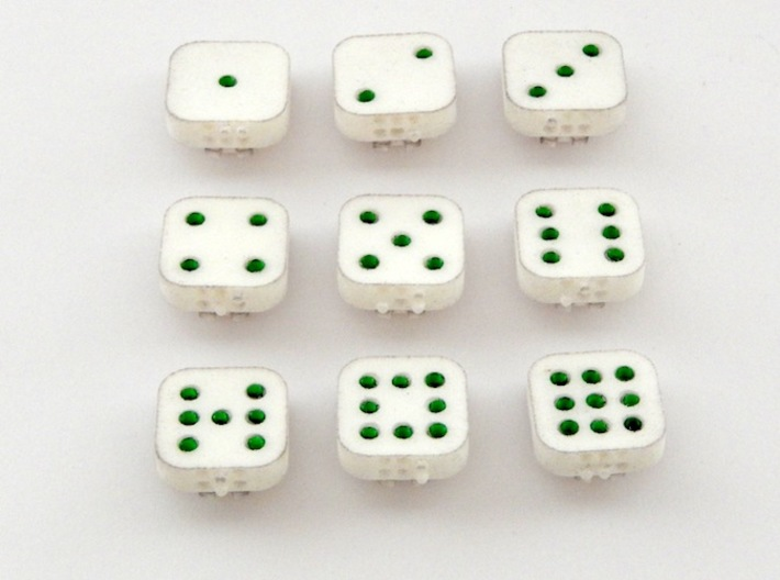 Dancing Dice & Dominoes Puzzle - Part 1/3 (Tiles) 3d printed