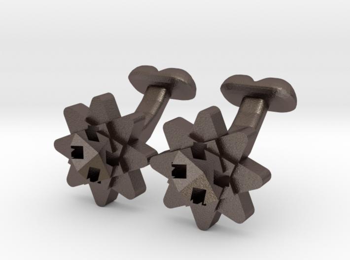 Cufflink Flower Range Geo-flower 3d printed