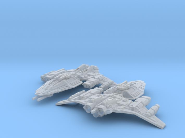 HOMEFLEET Destroyer -  2 ships 3d printed