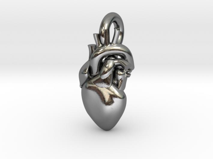 Beautiful Human Heart Pendant 3d printed