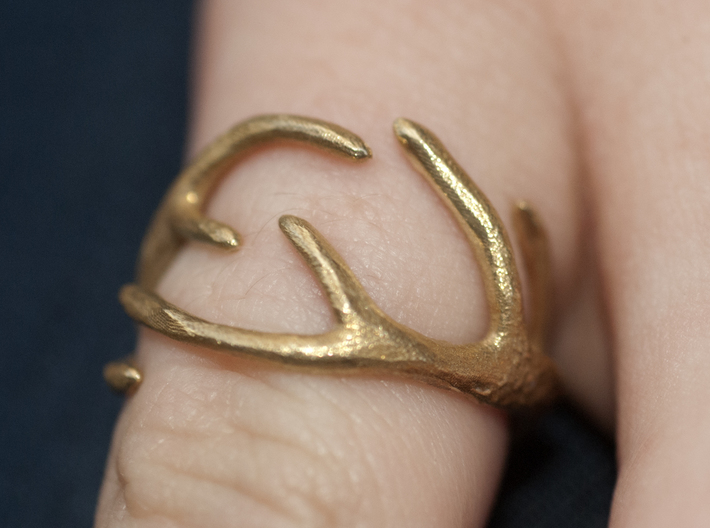 Antlers Ring 17mm  3d printed