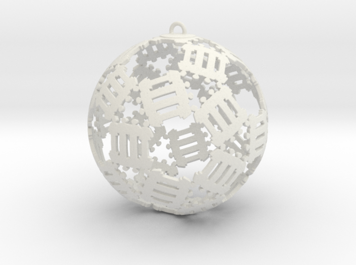 The Bond Ornament 3d printed