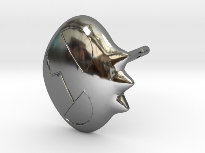 Yoko Skull Clip Stud Earring Remix (.333in) 3d printed