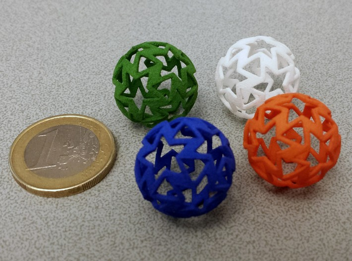 12-star ball 3d printed Strong & Flexible Polished