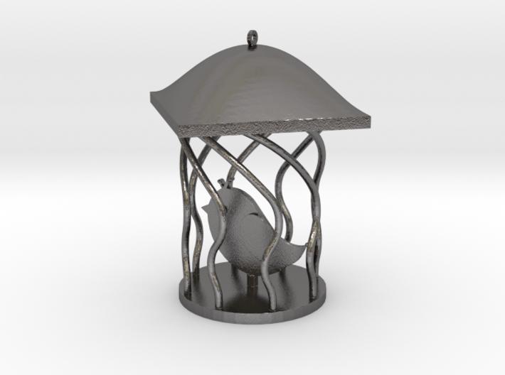 Bird Pendant 3d printed
