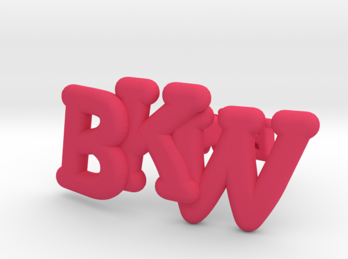 Monogram Cufflinks 3d printed