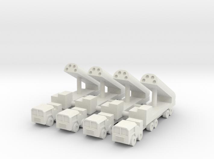 1/285 BGM-109G Gryphon GLCM (x4) 3d printed