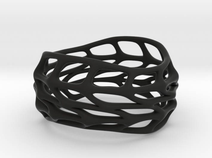 Panel Twist Full Hollow Ring 06 Sz 6 3d printed