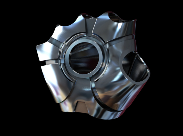 Metal Iron Man Right Palm Armor (Size Large) 3d printed Cg Render