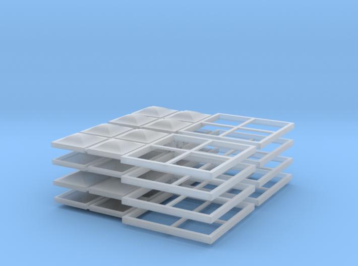4x4 Skylight - HO scale - 8 units 3d printed