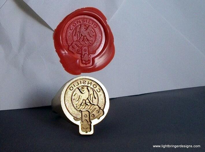 Custom Signet Ring 3d printed Scottish Crest badge custom signet ring.