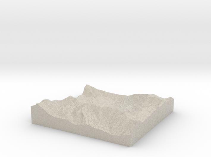 Model of Albion Basin 3d printed