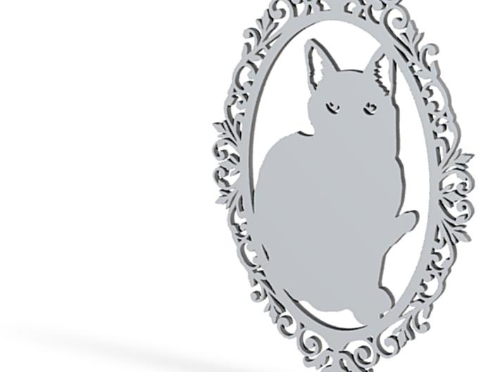 Cat medallion 3d printed