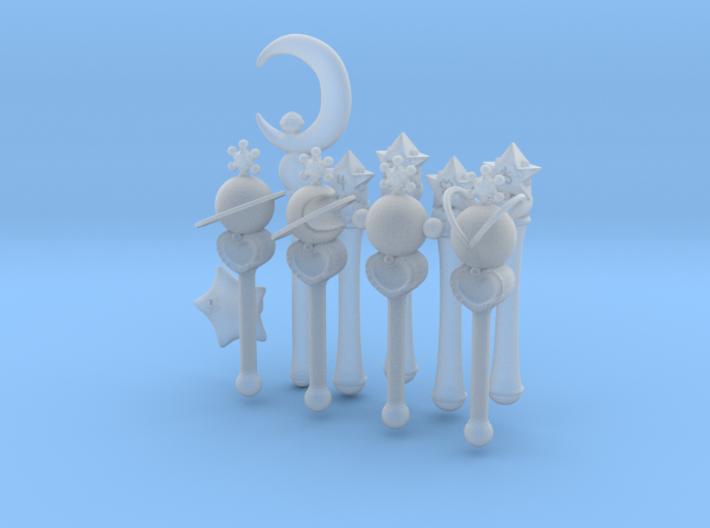 Sailormoon Miniature Wand Set 3d printed