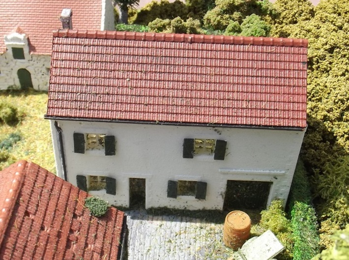 House On Hill - WSF Walls - N - 1:160 3d printed