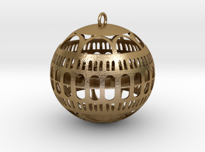 Library of Congress Christmas Ornament 3d printed