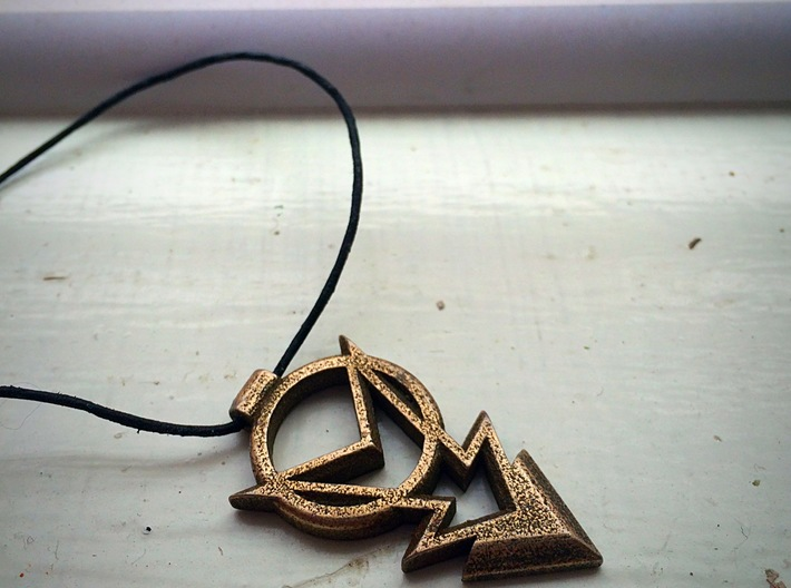 Strength of Lightning Pendant 3d printed