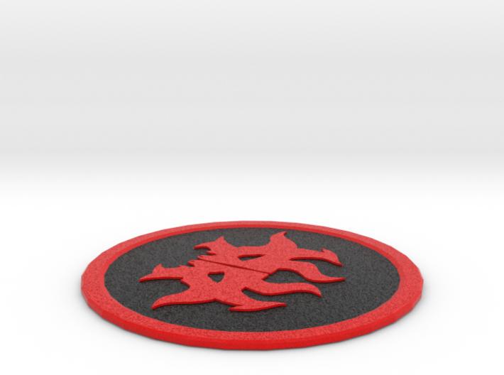 Rakdos Coaster 3d printed