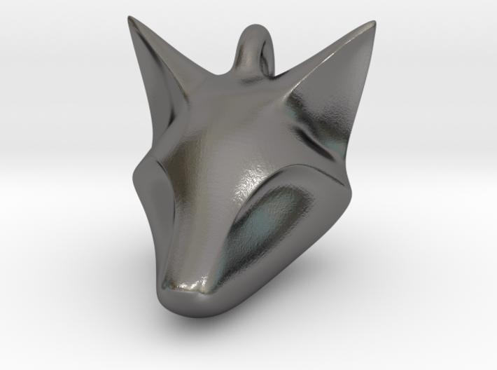 Stylish Fox Head Pendant 3d printed