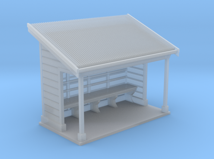 NSW Tramways Waiting Shed Design 01 3d printed Sydney Tram Waiting Shed Model HO 1:87