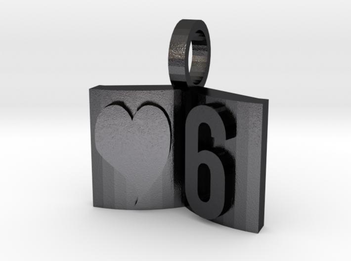 6th Anniversary Charm Bracelet Book 3d printed
