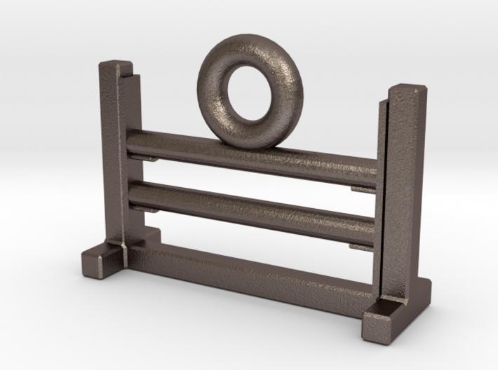 Agility Bar Jump Zipper Charm 3d printed