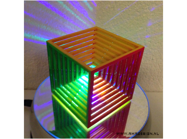 Hypercube Impossible Cube sculpture Large 3d printed painted