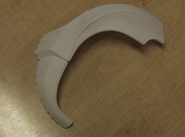 Iron Man Pelvis Armor, Front Left (Part 1 of 5) 3d printed Actual 3D Print (Outer Side)