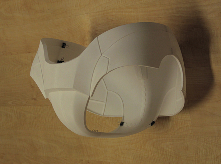 Iron Man Pelvis Armor, Back Left (Part 5 of 5) 3d printed Actual 3D Print (All parts combined)