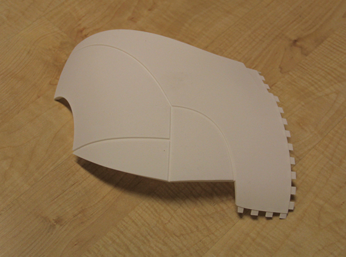 Iron Man Pelvis Armor, Back Left (Part 5 of 5) 3d printed Actual 3D Print (Outer Side)