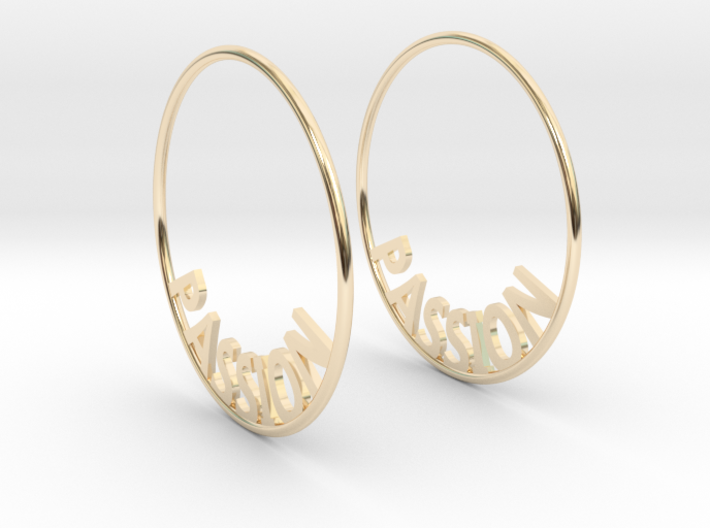 Custom Hoop Earrings - Passion 40mm 3d printed