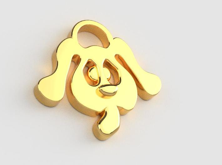 LOVE DOG (Pendant or Earring) 3d printed