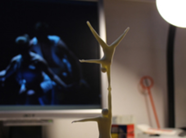 acrobatic long one handed handstand 3d printed