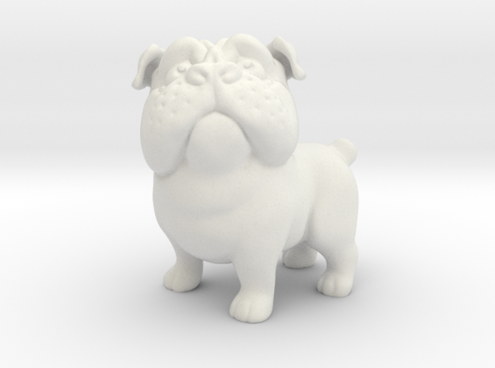 Plucky the Pug 3d printed