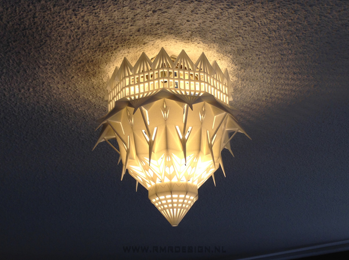 The Magic Light Cathedral 180mm 3d printed ceiling lamp edition