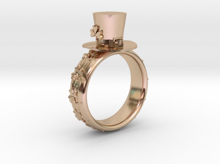 St Patrick's hat ring(USA 5.5,Japan 10, Britain K) 3d printed
